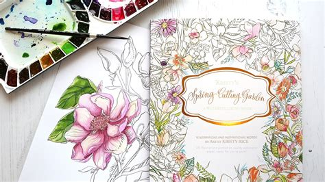 pattern watercoloring book for adults new painterly days watercolor coloring book giveaway