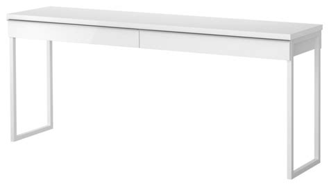 Narrow White Desk Best 229 Burs Desk High Gloss White Modern Desk Accessories