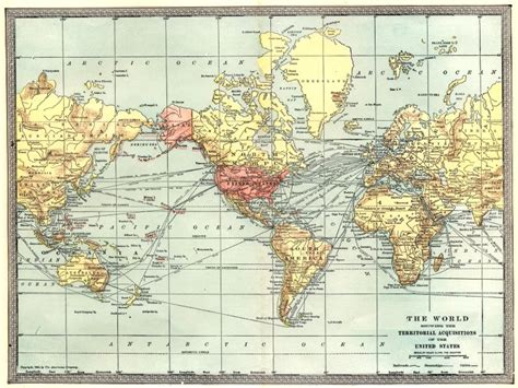 territorial acquisition map the world showing united states territorial acquisitions