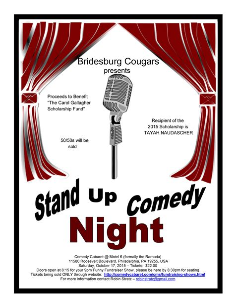 comedy night in honor of the carol gallagher scholarship