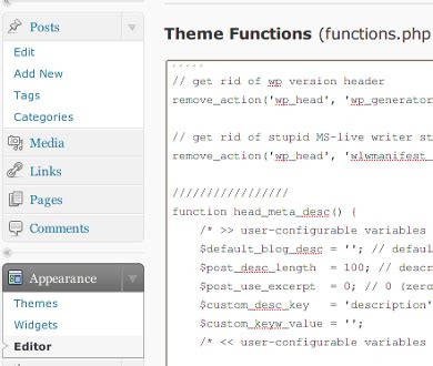 wordpress theme editor disable small business owners theos in