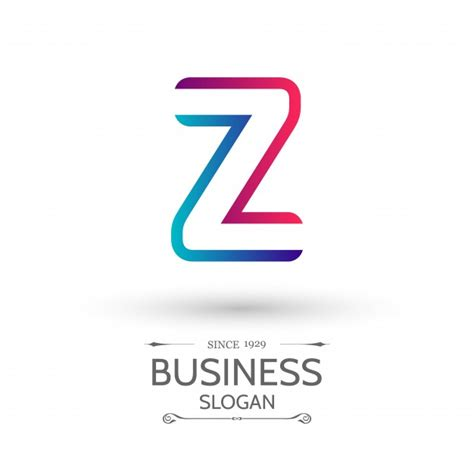 Z Logo blue and logo with letter z vector free