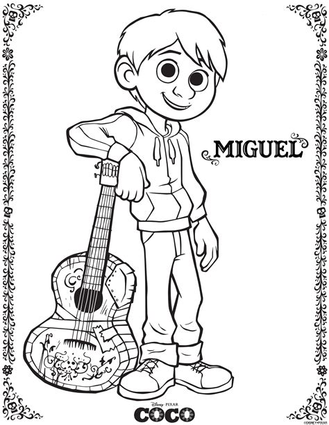 coloring pages activities printable coco coloring sheets and activity sheets from disney pixar