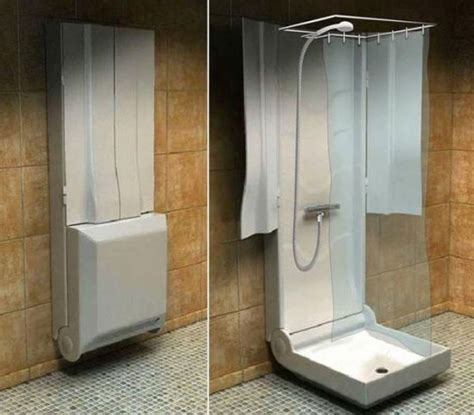 Functional Folding Shower For Small Bathrooms Tiny Bathrooms With Showers