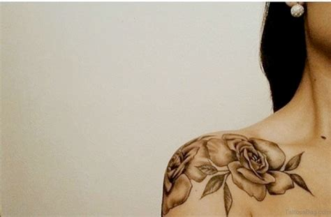 tattoos of roses on shoulders 57 pleasant black designs