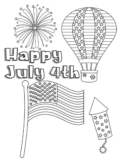 fourth of july coloring pages free printable fourth of july coloring pages 4 designs