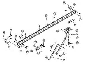 parts for a genie garage door opener rail assy diagram amp parts list for model cm8600 genie
