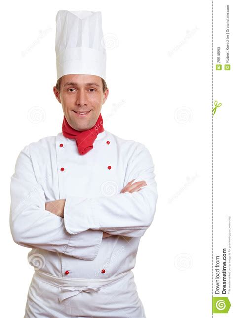 cook with chef cook with arms crossed stock photos image 25518593