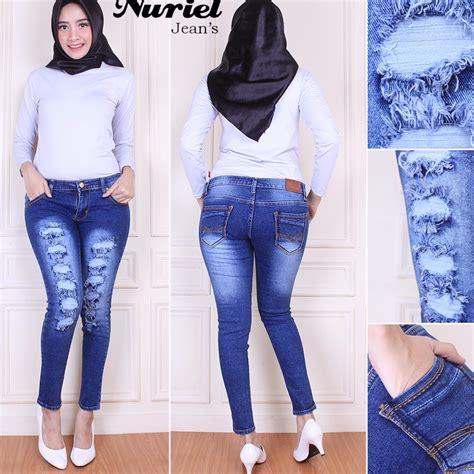 Celana Lea Wanita jual celana lea original warna biru dongker toko terpercaya