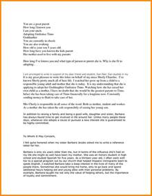 Character Reference Letter Adoption 6 Adoption Reference Letter Resumed