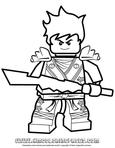 lego ninjago red ninja coloring pages ninjago kai kx in elemental robe coloring page free