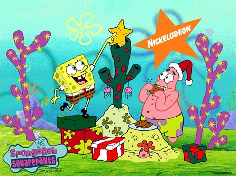 christmas spongebob spongebob squarepants wallpaper