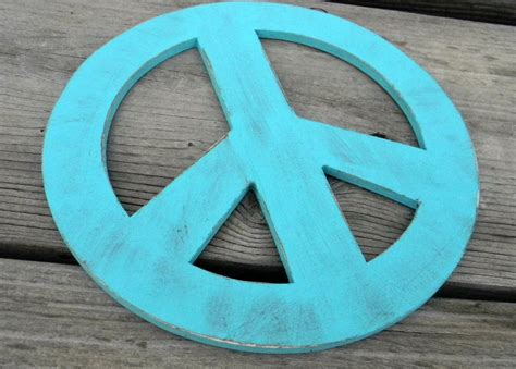 peace sign home decor wood teal peace sign wall hanging home decor