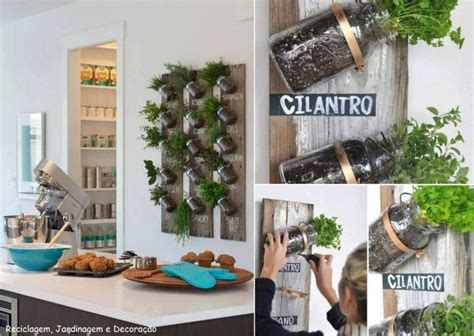 jar wall herb garden for the home