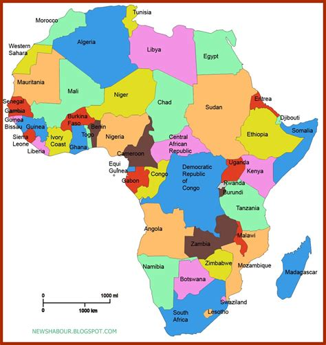 africa map of countries news habour checkout the alphabetical list of all