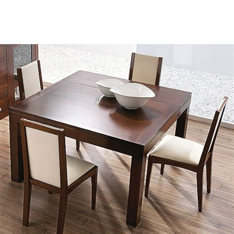 mesas de comedor mesa de comedor extensible cuadrada en madera de nogal