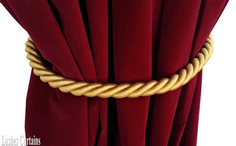 drapery rope large gold window decor curtain drape 36 quot long thick rope