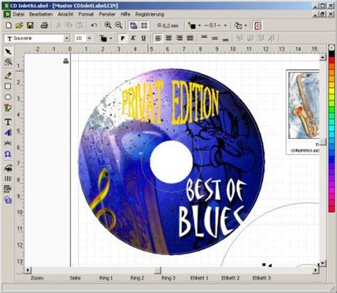 format cd einleger cd inlet label