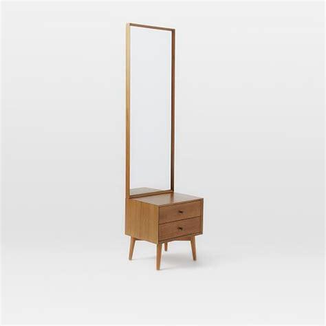 mid century mirror mid century storage mirror acorn west elm