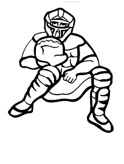 baseball catcher coloring page baseball catcher coloring