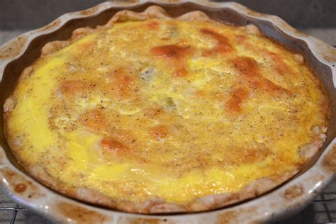 Quiche Lorraine Pie Large catholic cuisine quiche lorraine for st joan of arc