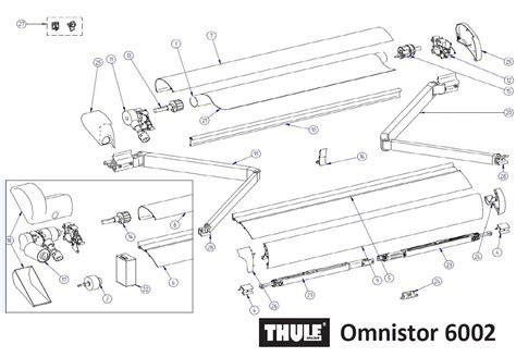 ersatzteile markise tuchrolle 3 5m thule ersatzteil nr 1500601879 passend