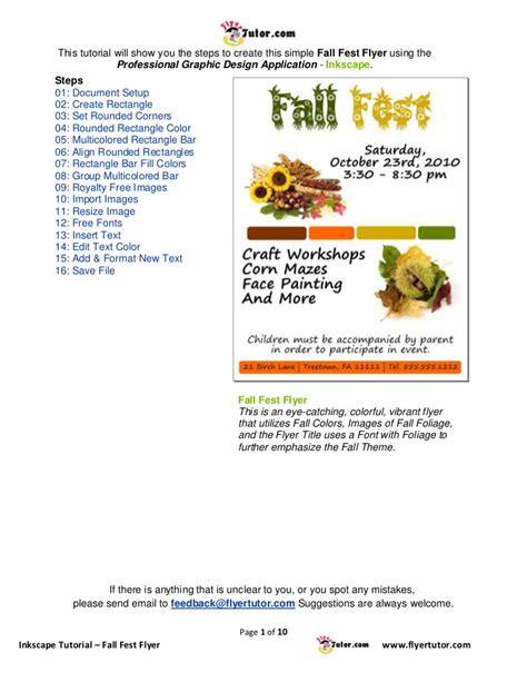 Inkscape Tutorial Advertisement | inkscape fall fest flyer tutorial