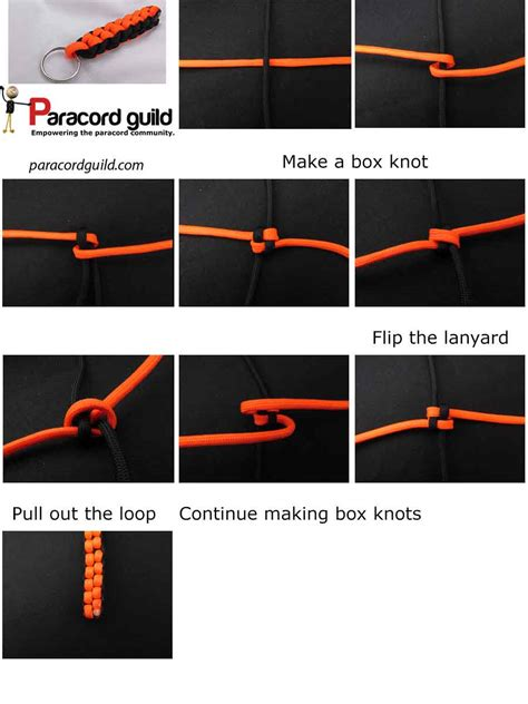 How To Make Knot - box knot paracord keychain oliefantasie