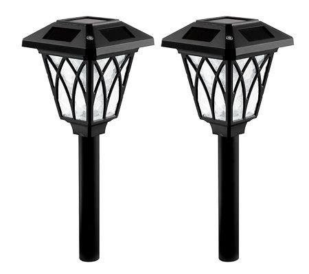 solar landscape lighting qvc westinghouse 2 canterbury solar path light set qvc