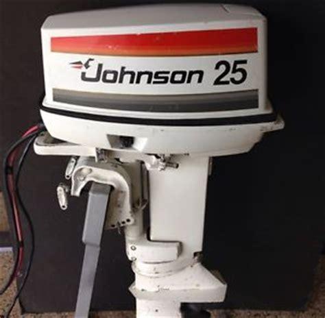 1977 johnson 25 hp short remote electric outboard motor | ebay