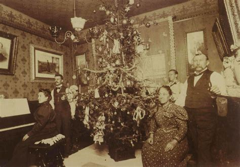 christmas decorations in the 1800s vintage photographs