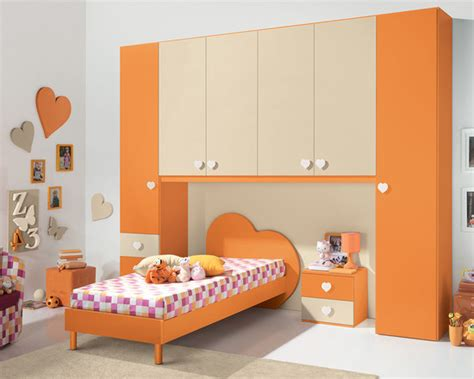 white heart bedroom furniture bedroom modern italian kids bedroom in orange and white