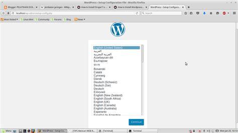 tutorial wordpress debian tutorial install wordpress 3 9 di linux mint atau debian