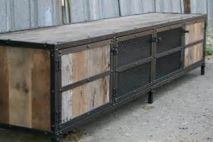 Distressed Kitchen Islands Combine 9 Industrial Furniture Industrial Rustic Credenza