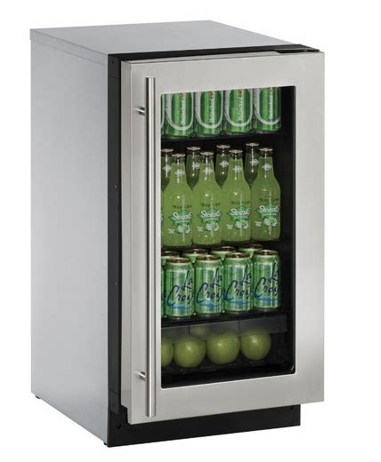 clear glass door refrigerator 2218rgls00b u line 2000 series 18 quot glass door refrigerator