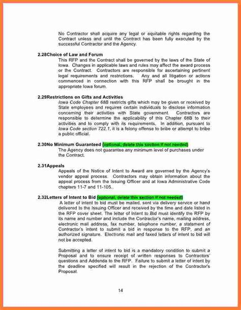 10 Rfp Template Word Marital Settlements Information Rfp Template Word