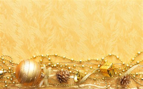 xmas wallpaper gold new year toys ribbon cone chains gold wallpaper hd wallpaper