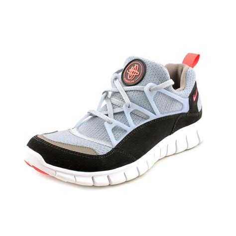 grey athletic shoes nike nike free huarache light gs mesh gray running