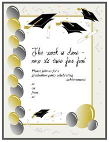 Graduation Templates by 40 Free Graduation Invitation Templates Template Lab