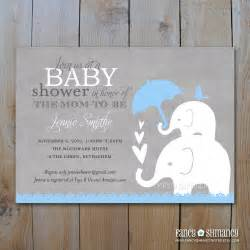 elephant baby shower invitation printable by fancyshmancynotes