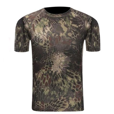 Camouflage Drying Compression Boxer camouflage shirt breathable tights army tactical