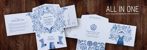 Wedding Invitations All In One by All In One Self Mailer Wedding Invitations Einvite