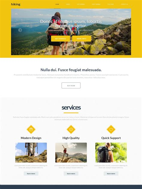 Adventures Hiking Website Template Hiking Website Templates Dreamtemplate Adventure Website Templates