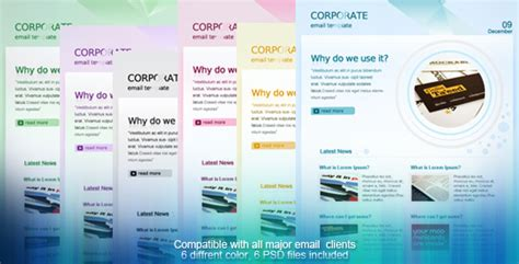 Corporate Email Template By Hayleme Themeforest Corporate Email Template