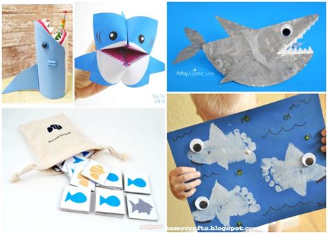 shark crafts for 25 shark crafts and activities for shark week