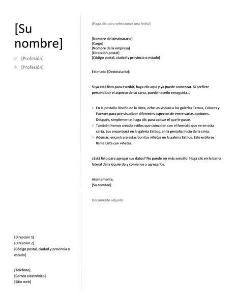 Modelo Curriculum Y Carta De Presentacion Modelos De Cartas De Presentacion En Ingles