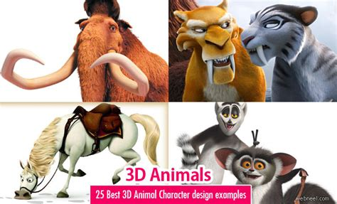 Animal Character 02 25 best 3d animals and character design exles webneel
