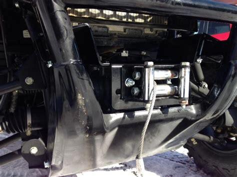 emp winch mount for honda pioneer