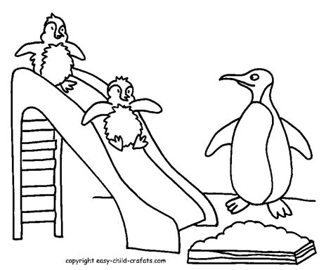 coloring page of penguins for preschool penguin coloring pages