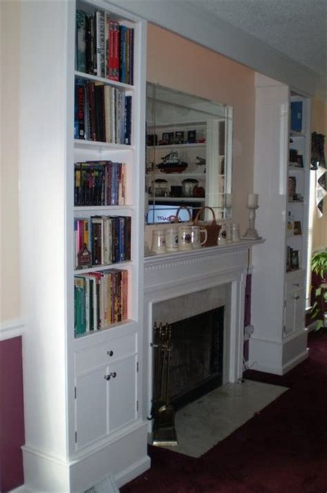 fireplace surround book shelves by michael brailsford